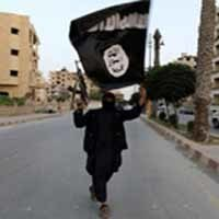 isis militant in the street