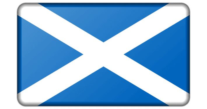 Scottish Flag is displayed in reference to the opening of the SQR group's opening of its offices in that region